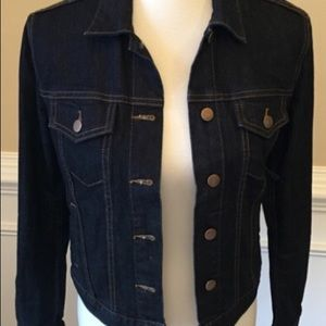 Gap dark denim jean jacket-women's x-small